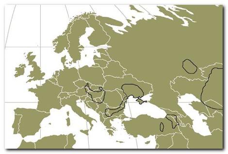 Područje rasprostranjenosti u Europi